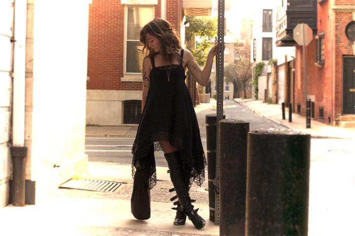 achromatic heart black gauze handkerchief dress kate carnegie scissorhand boots
