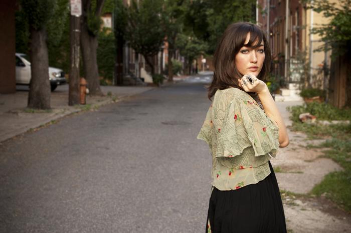 vintage bed jacket with shakuhachi dress